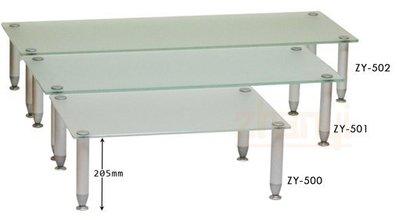 【一品櫃】多功能音響架/置物架 強化噴砂玻璃+鋁合金 寬90cm ZY-501/ZY501*可訂做,客製化 zhanyi