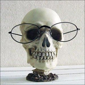 (I LOVE樂多)少見商品-骷髏頭眼鏡架 實用 裝置藝術 送人自用兩相宜