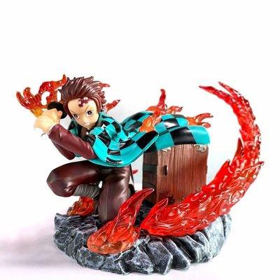 【紫色風鈴】鬼滅之刃GK 火焰 灶門 炭治郎雕像模型盒裝 港版 無證