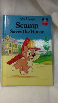 🌈🌈迪士尼全新精裝全彩全英故事繪本SCAMP SAVES THE HOUSE❇️