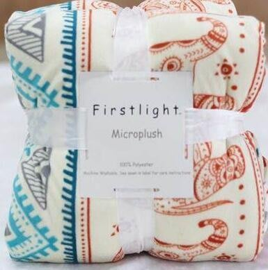 ❀蘇蘇購物館❀外銷出口原單法蘭絨毛毯歐式空調毯子雙層加厚羊羔絨午睡毯辦公室 吉祥小象