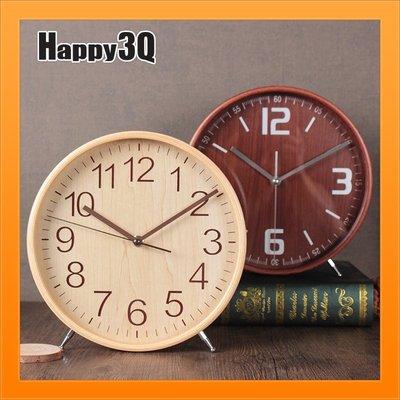 鬧鐘擺鐘復古造型簡約時鐘鐘錶客廳現代簡約羅馬數字時鐘-木/藍/白【AAA3514】