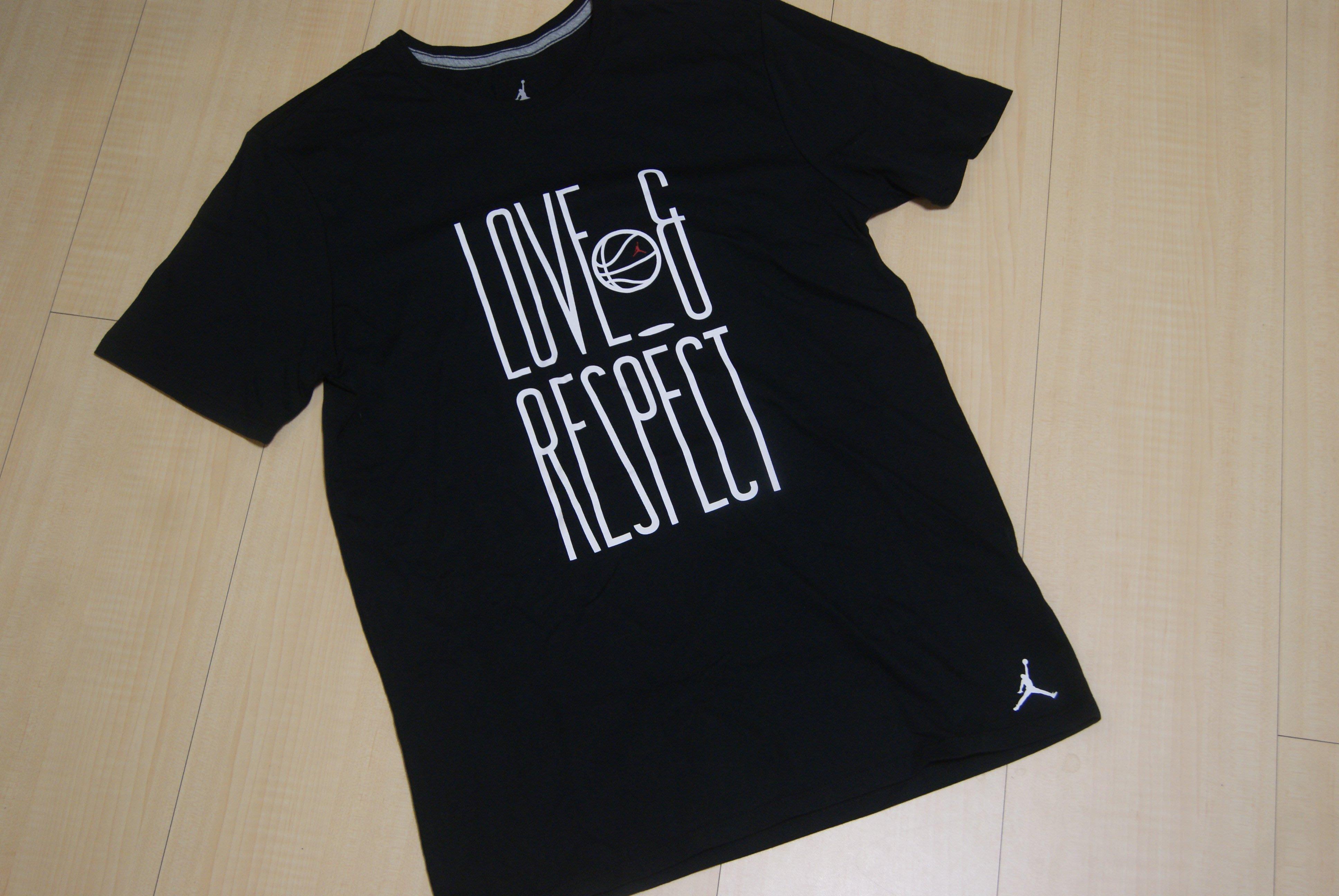 NIKE AIR JORDAN LOVE & RESPECT 愛與敬意 短T恤短TEE 短袖針織衫 AQ4891-010