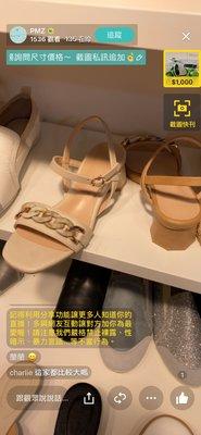 韓國夏天新款 壓克力鎖鏈可愛鞋跟 實穿 涼鞋 35-40