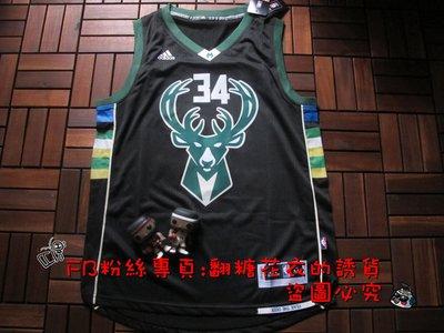NBA公鹿隊Ran Allen 34號球衣公鹿隊34號吉安尼斯·安特托孔波球衣Giannis Antetokounmpo