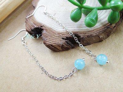 【N&Y】藍絨晶 海藍寶 流蘇垂墜古典氣質耳環EA101☆抗敏耳勾可改耳夾