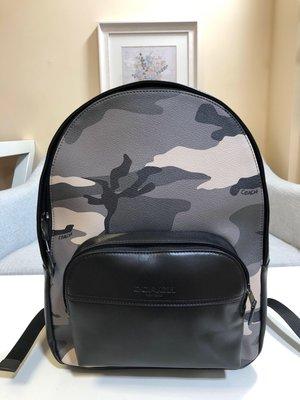 ㊣國際品牌COACH庫㊣美國代購COACH 75878 11月新款【2件免運】專柜最新迷彩PVC配皮後背包旅行包男雙肩包