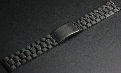 **24mm黑色真空離子電鍍sea master 海馬風格不鏽鋼製錶帶非烤漆,seiko, citizen, nixon