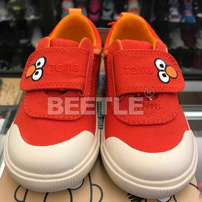現貨 BEETLE TOMS X SESAME STREET ELMO FACE CANVAS 紅臉 帆布鞋 芝麻街 台北市