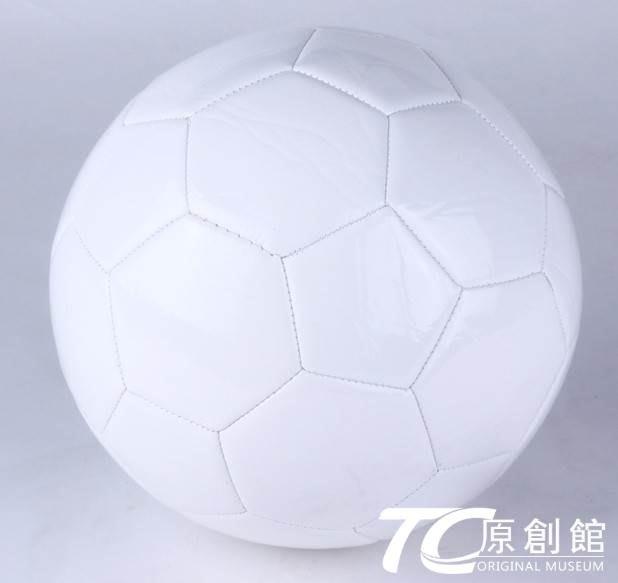 簽名球純白色足球diy涂鴉足球5號成人彩繪足球可定制logo