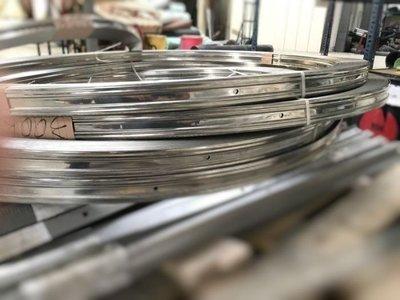 不鏽鋼圓捲壓條(寬3.6cm,每30公分有一個孔) 固定布膜用