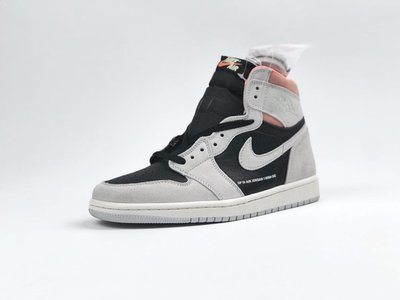 NIKE JORDAN 1 RETRO OG NEUTRAL GREY 黑灰橘 555088-018