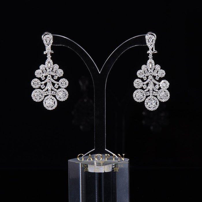 【高品珠寶】18K 設計款《璀葉》鑽石耳環 真金真鑽 情人節禮物 生日禮物 #3594