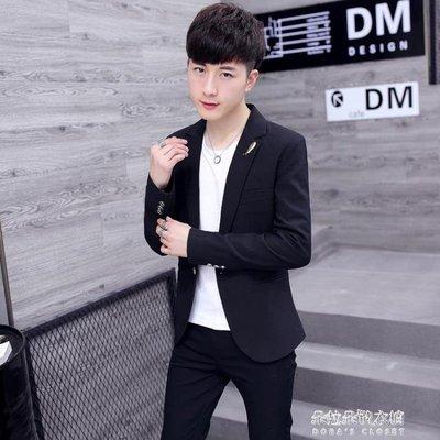 休閒西服男士韓版修身上衣服青年帥氣小西裝潮流男裝外套
