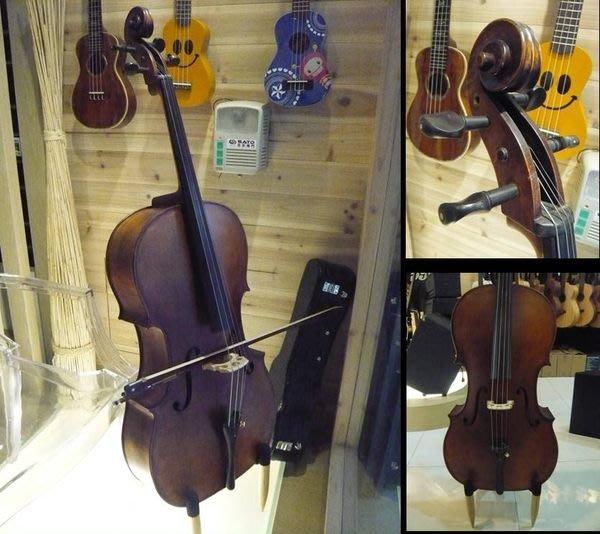 【名人推薦精品】RICA 大提琴(復古風格/手工仿古油性刷漆/全手工製作/A級優等烏木配件