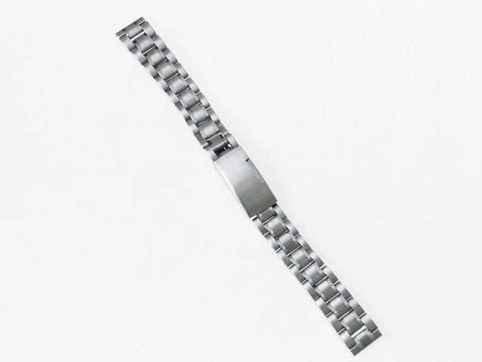 全鋼手錶錶帶 不鏽鋼錶帶 鋼帶 勞力士可用 – 平口 – 白鋼 - 多尺寸可選