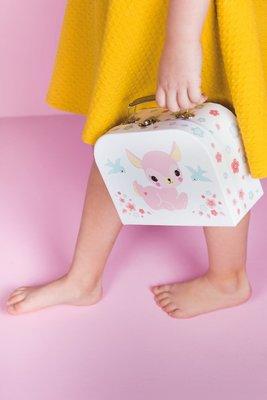 【現貨】QB選物 ❤ 荷蘭|a Little Lovely Company ❤ 療癒粉紅小鹿手提收納箱