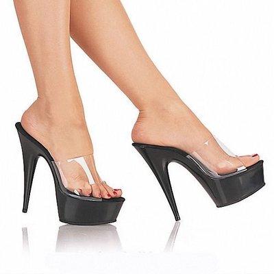 """透明鞋 15CM高跟鞋 水晶鞋 """"西西莉亞""""新款特殊定制鞋 貨號: 20086"""