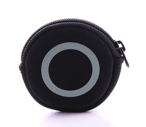 la essence  熱賣商品 LE-9606N 圓型零錢包/耳機收納包 (圓圈印刷)潛水衣布.防震.抗摔.可水洗~