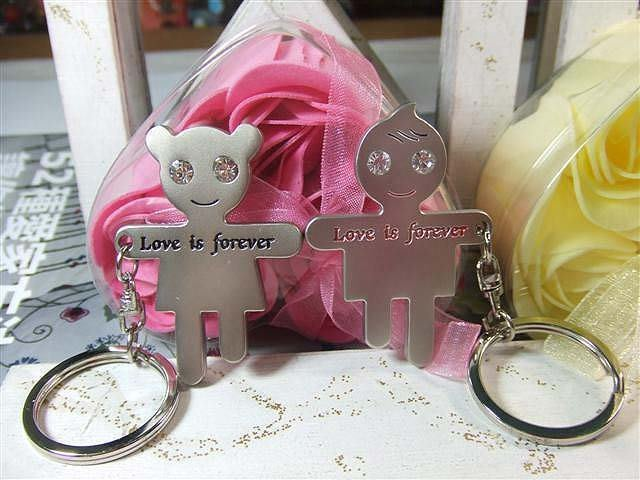☆創意小物店☆情侶鑰匙扣(永恆的愛) 鑰匙圈/創意可愛金屬鑰匙圈 時尚造型個性飾品