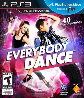 全新未拆 PS3 全民熱舞(全民勁舞) Everybody Dance (Move必須) -英文美版-