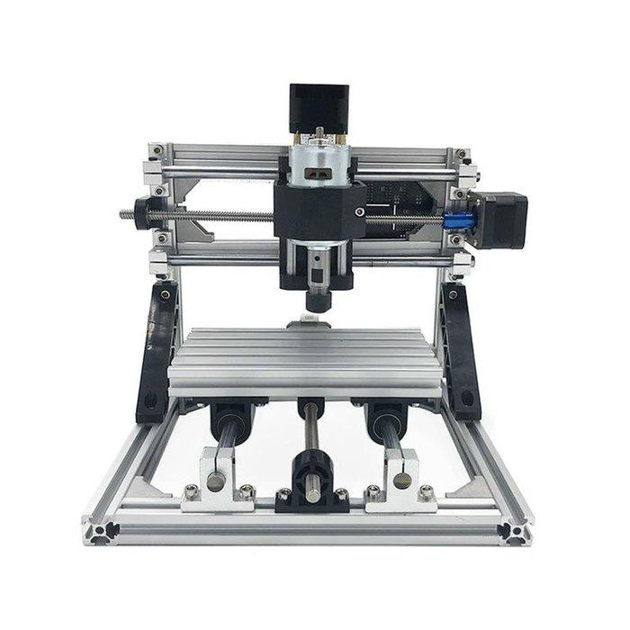 桌上型小型 CNC3018雕刻機 +1000mw雷射雕刻雙模組雕刻切割機套件