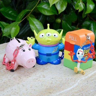 Ariels Wish日本東京迪士尼限定玩具總動員火箭筒三眼怪火吊飾掛飾糖果盒糖果罐藥罐收納盒首飾品盒子糖果組-絕版品