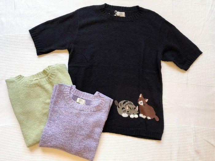日本卡拉貓~貓咪質感不刺膚棉線衫