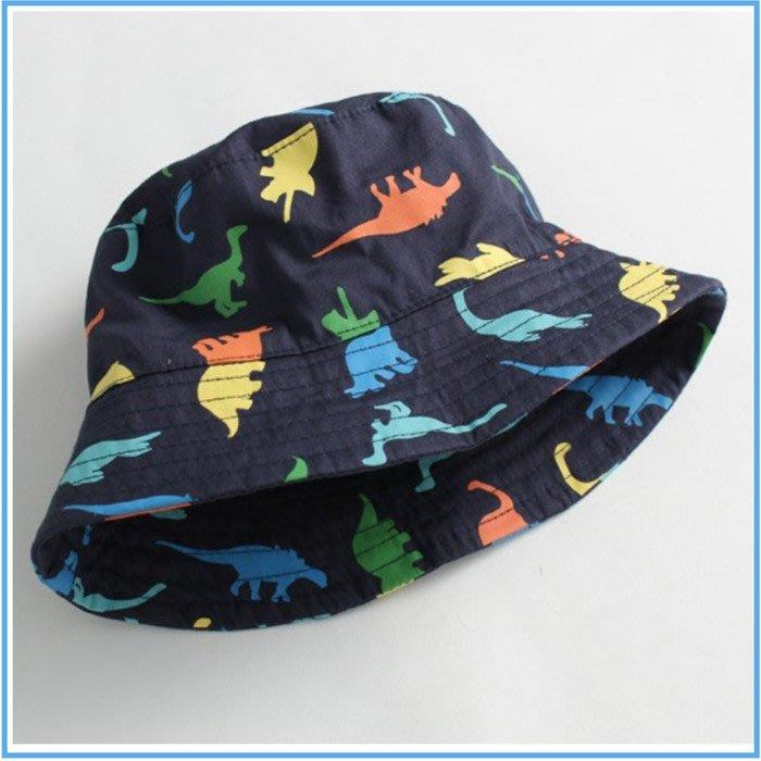 大老婆小寶貝**夏天寶寶遮陽帽 、兒童遮陽漁夫帽*恐龍款*(44cm、46cm、48cm、50cm、52cm、54cm)