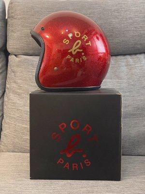 agnes b SPORT b 金蔥紅色亮面安全帽 限量半罩3/4罩 全新現貨已絕版 拍賣唯一