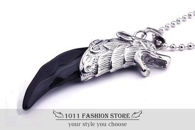 美式搖滾 龐克風 鈦鋼 / 西德鋼 不鏽鋼 狼牙 男性項鍊 女性項鍊 鈦鋼項鍊 個性項鍊 BH-110802