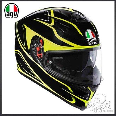 三重《野帽屋》義大利 AGV 全罩 安全帽 K-5 S 內建墨片 亞洲版型 K5S K-5。Magnitude 黑黃