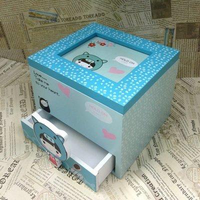 章魚球百貨【0101010】3款(可挑款)小姑娘1小抽木製首飾盒 化妝盒 收納盒 珠寶盒 飾品盒