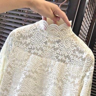 女裝上衣 內搭打底衫秋冬蕾絲打底衫女高領加絨加厚內搭修身洋氣小衫網紗上衣冬季