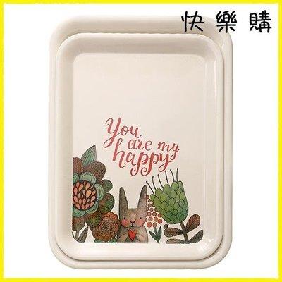 托盤 家用動物托盤長方形北歐創意客廳水杯茶盤塑料歐式水果盤餐盤