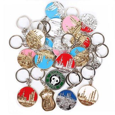 哈尼店鋪*上海紀念品鑰匙扣鑰匙圈東方明珠外灘城隍廟景點旅游小禮品優惠推薦