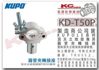 凱西影視器材【 KUPO KD-T50P 頂天立地架 專用 圓管夾 truss 轉接座 】天地撐 天地桿 背景架 管夾