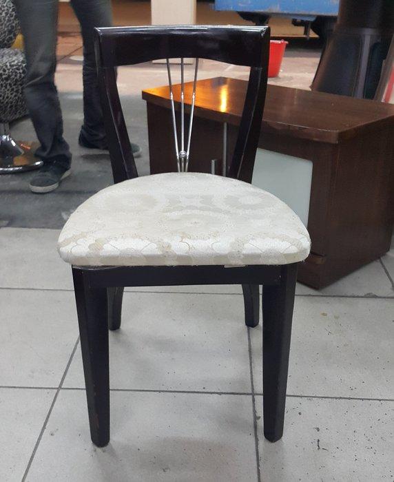 樂居二手家具 全新中古傢俱家電賣場 B0105EJ1 胡桃色布面化妝椅*美容椅 書桌椅 電腦椅 2手各式桌椅出清拍賣