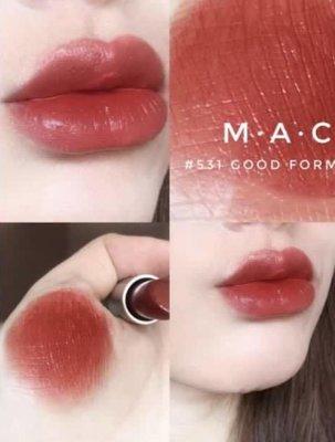 MAC 色號531唇膏 GOOD FORM水漾潤澤唇膏