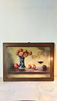 義大利進口~ 鄉村風老木頭花卉版畫 壁畫 壁飾(絕版經典款)~特價
