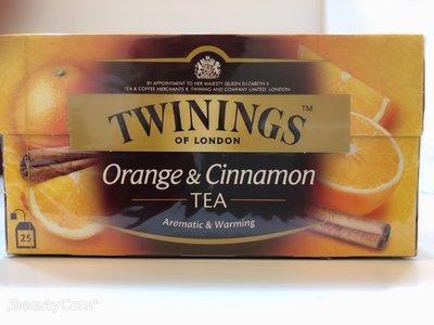**愛洛奇**英國 TWININGS 唐寧茶 香橙肉桂茶 ( 2g×25入 )(10盒免運同款系列任搭)