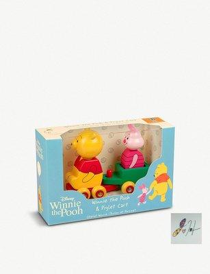 當日寄出 附簡易包裝[現貨] 英國代購 ORANGE TREE TOYS 迪士尼聯名小熊維尼和小豬木製推車