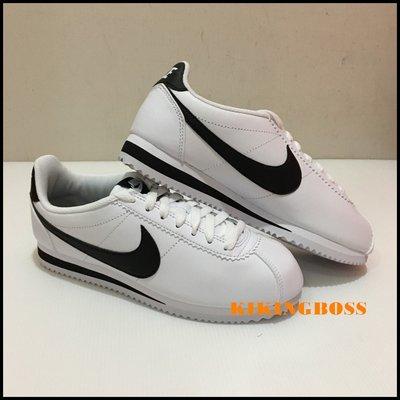 【喬治城】NIKE CLASSIC CORTEZ LEATHER 經典復古鞋 阿甘鞋 黑白 807471-101