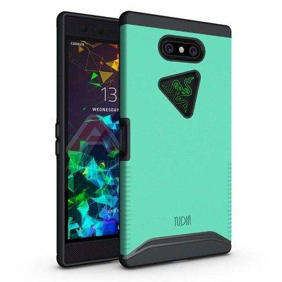 黑綠色:雷蛇手機二代用※台北快貨※美國原裝 Tudia MERGE 軍規認證防滑抗摔保護殼**Razer Phone 2