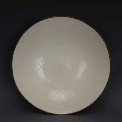 ㊣姥姥的寶藏㊣ 宋代定窯手工刻花包金邊大號瓷碗  出土文物古瓷器古玩古董收藏品
