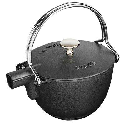 法國Staub 鑄鐵 水壺 茶壺 1.15 L  16.5CM 圓形 法國製 (黑色)  耶誕禮物 尾牙贈品