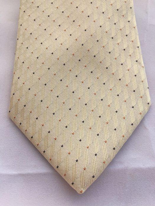 CK絲質領帶 鮮黃搶眼