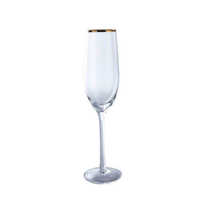 金邊玻璃酒杯創意紅酒杯香檳杯家用鍍金洋酒杯高腳杯杯子【優品城】