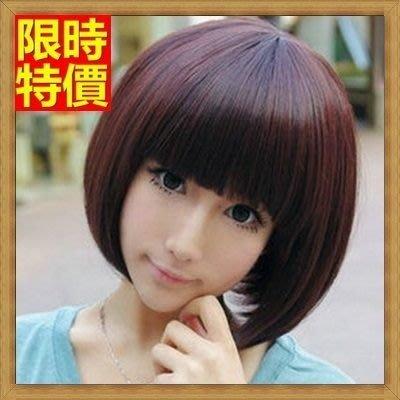 女假髮 整頂短假髮-可愛齊瀏海修臉流行女美髮用品3色69o62[獨家進口][米蘭精品]