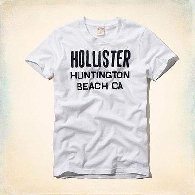 Maple麋鹿小舖 Hollister Co * HCO 米白色貼布電繡字母短T *( 現貨XL號 )